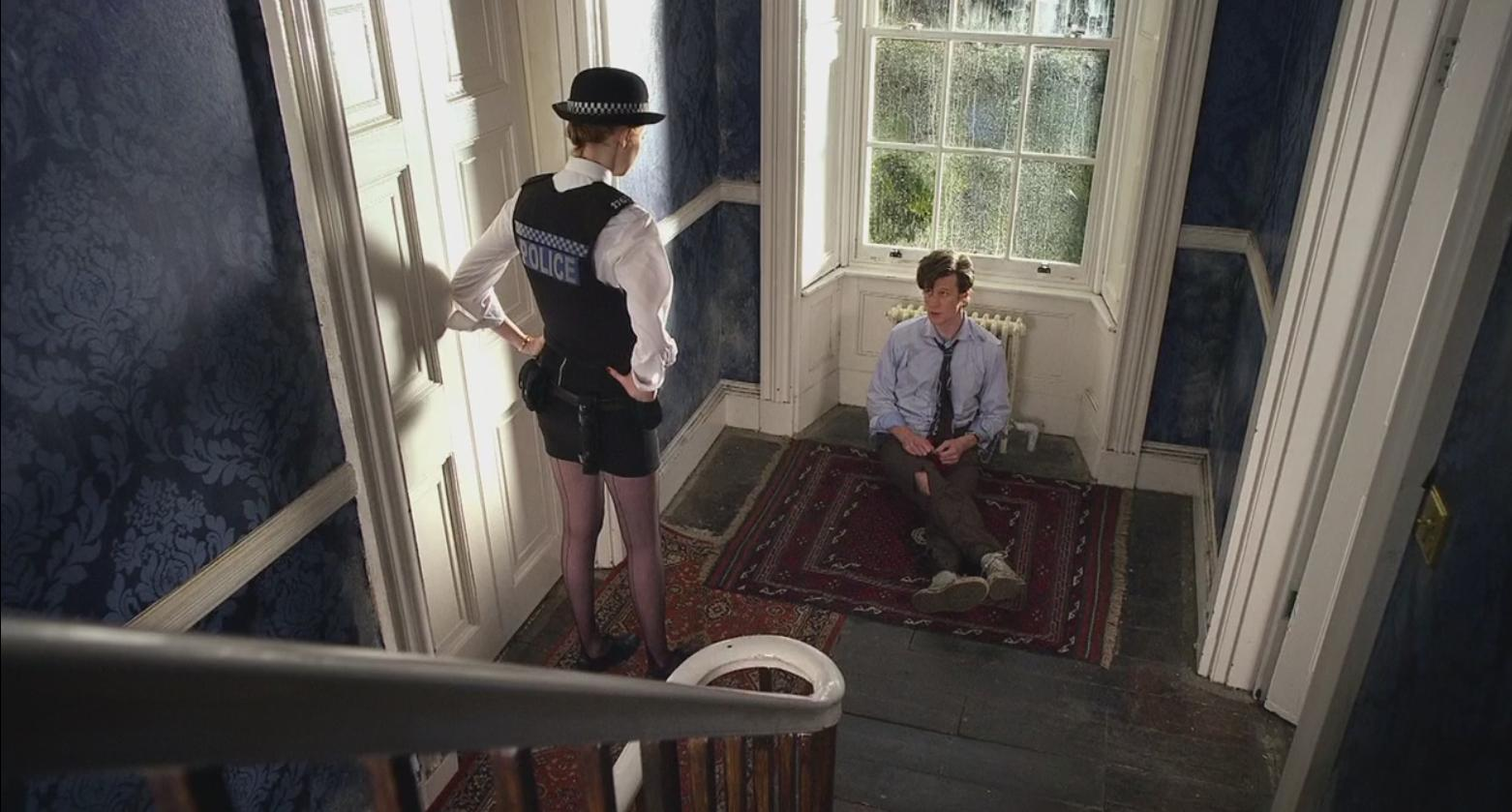 The Doctor Handcuffed Radiator Older Amy Pond Real