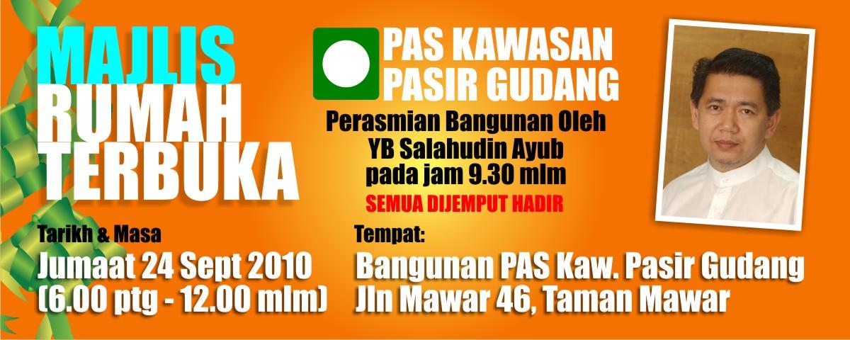 foto Majlis Rumah Terbuka Pas Pasir Gudang