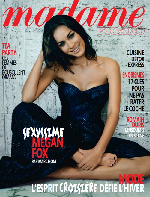 Megan Fox, who recently starred in an Armani Beauty ad, appears on the cover
