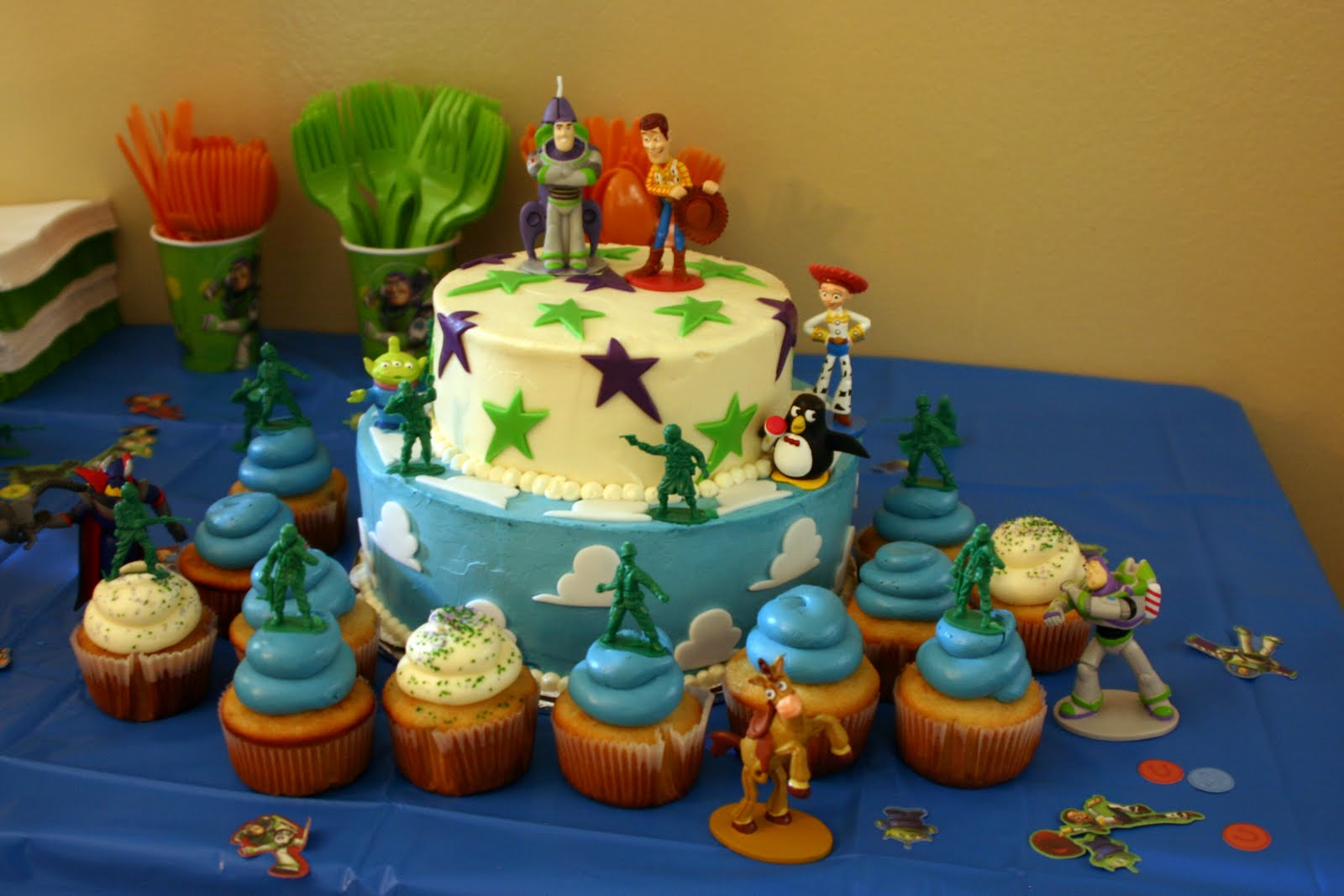 Toy Story Themed 5th Birthday Cake