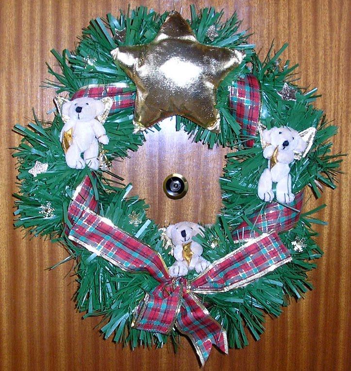 Los ingredientes de la vida coronas de navidad adornan for Coronas de navidad hechas a mano