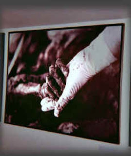 Srebrenica Massacre - Genocide of over 8,300 Bosniaks - hand from the mass grave...