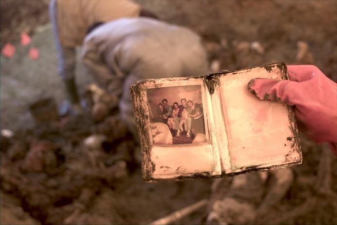 PHOTO: Victim's belongings found inside of. Srebrenica genocide mass grave in Snagovo.