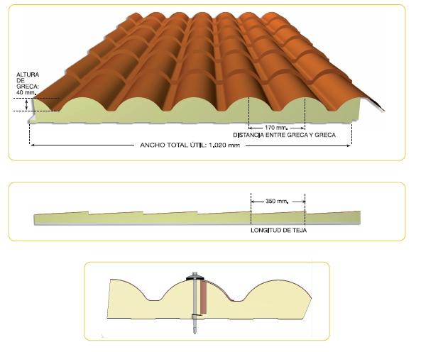 Isotermia soluciones constructivas s l n e panel for Panel de cubierta tipo sandwich