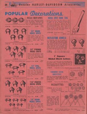 1950 Harley Davidson Motorcycling Accessories Catalog!