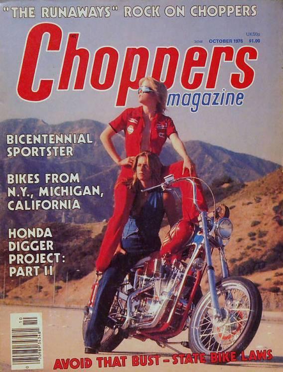 Nostalgia on Wheels  Runaways   Choppers Magazine 10 76