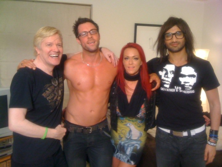 Jonny with Ric Porter, Paige Ashley & Billi Bhatti