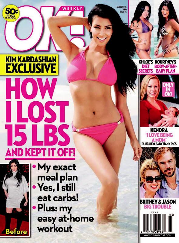 Kim Kardashian OK Magazine January 2010 Pictures