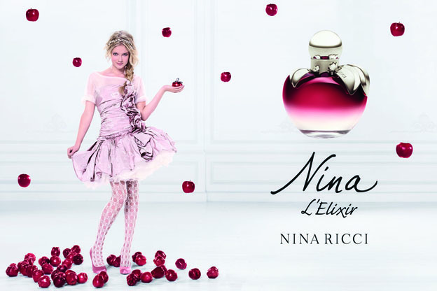 is the testimonial of Nina Ricci's new perfume advert.
