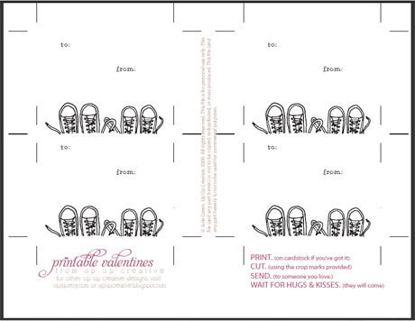 Allisa Jacobs Printable Valentines Card Round Up – Print Your Own Valentines Card