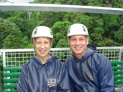 Preparing to Zip Line in Costa Rica with my good friend, Jim
