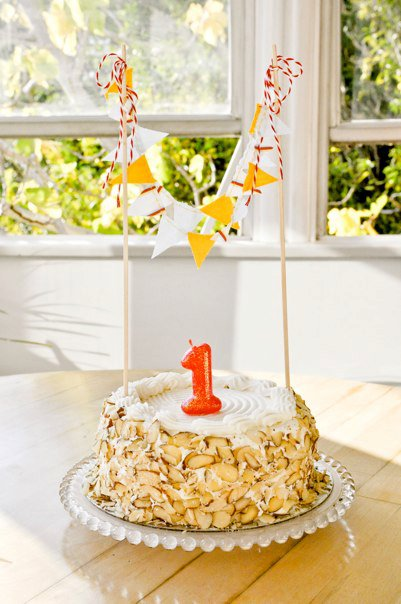 Bailey Cake Bunting For Finns 1st Birthday