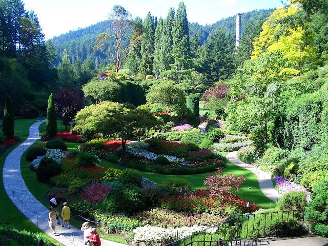 Apuntes de viajes los jardines butchart for Jardines butchart