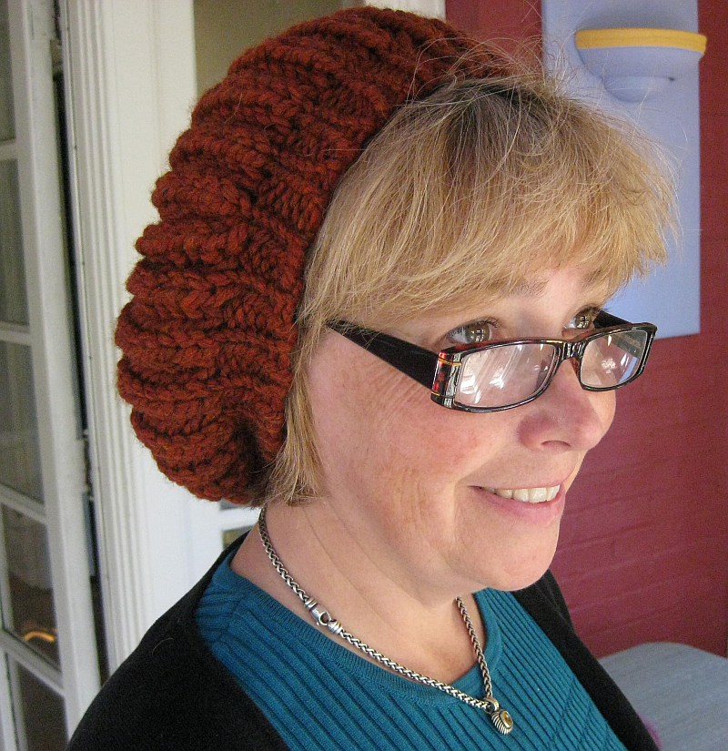 Brioche Beret Knitting Pattern : Verdigris Knits: Quick Slouchy Brioche Beret Pattern with Adjustments for Mal...