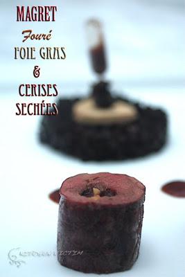 Kitchen victim magret de canard roule au foie gras et cerises sechees cuisson basse temperature - Temperature cuisson foie gras ...