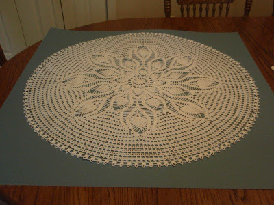 Pineapple Doily crocheted by Mom