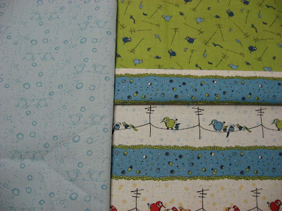 Cheep Talk fabric from Connecting Threads