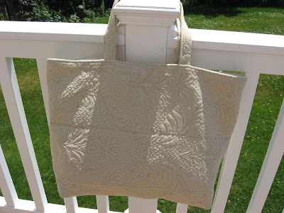 White Swirly Tote Bag side 2