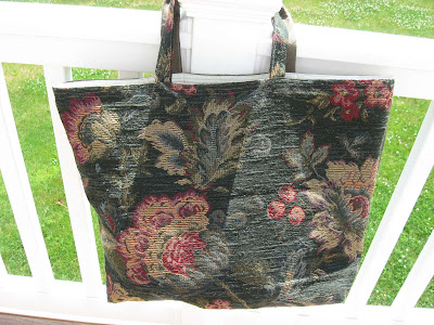 Dark Flowers Tote Bag side 2
