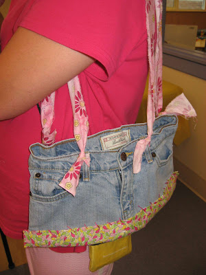 Upcycled Jeans tote bag