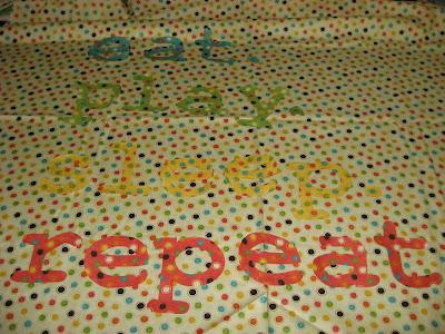 Eat play sleep repeat quilt in progress