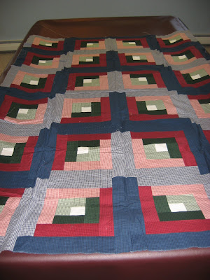 Log Cabin Quilt Top