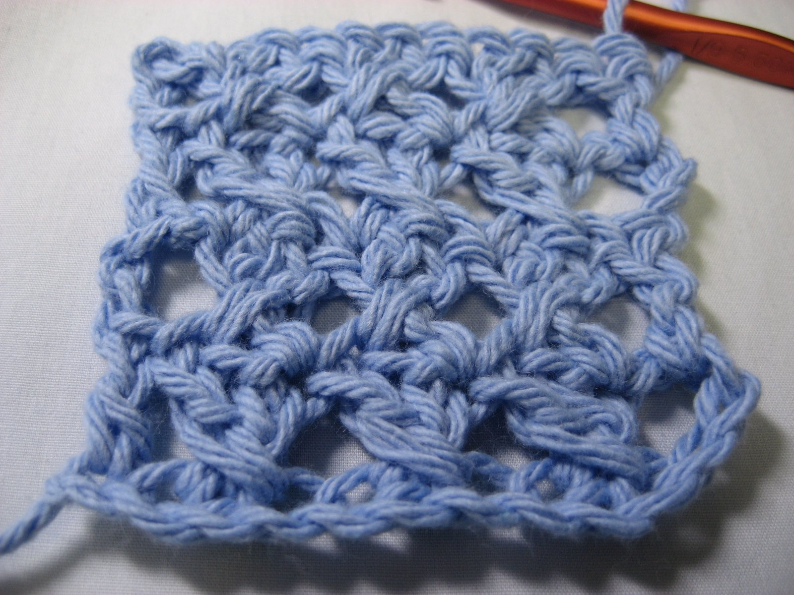 Crocheting Double Stitch : ... crochet stitch for a scarf or wrap with its lacy look and pretty