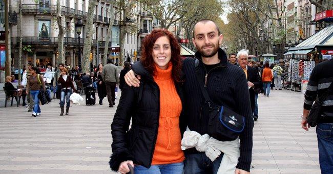 asier y yo de paseo por las ramblas [haz click sobre la imagen para ver el album completo]
