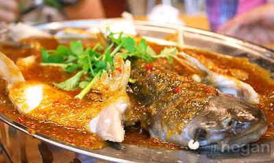 Malaysia Steamed Patin Fish