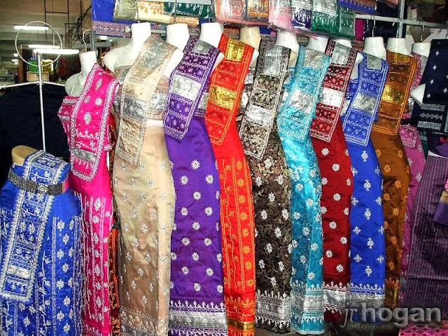 Morning Market - Traditional Lao Sinh dress, costumes and attire