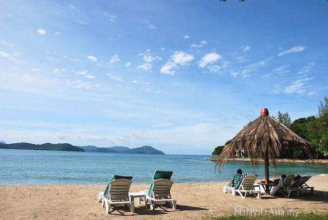 Beach at Rebak Island TAJ Hotel