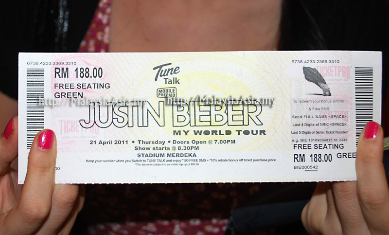 justin bieber live in kl seating. One of the first few Justin