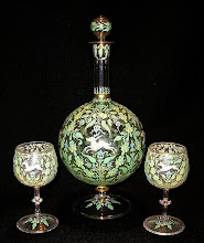 19th C. Moser Enamel, Salviati Glass