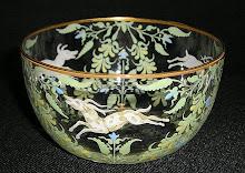 19th C. Moser Enamel, Salviati Glass
