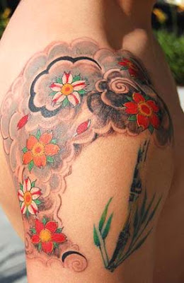 image of japanese cherry blossom tattoo