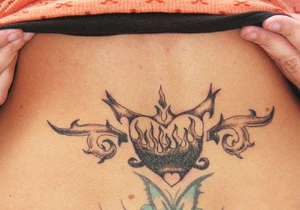Tags : tribal heart tattoos designs,lower back tribal heart tattoos,free