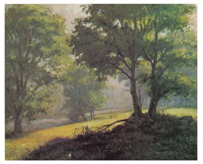 Pintura de paisagem ao ar livre