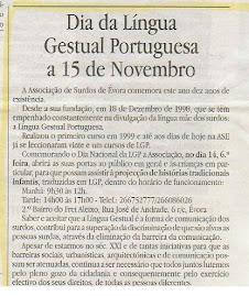 Dia da Língua Gestual Portuguesa a 15 de Novembro - ASE