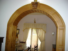 Teak wood Arch panelling