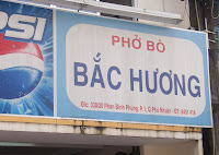 Ensigne restaurant de Pho à Hi Chi Minh ville