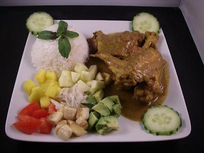 Poulet au curry aux fruits