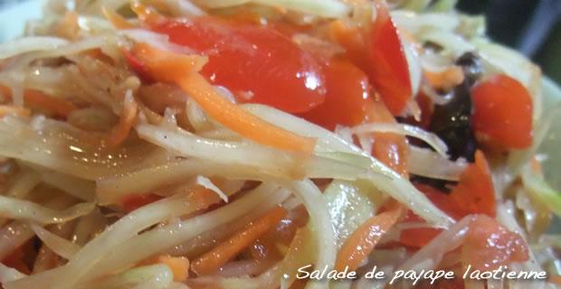 Tam Mak Krung  - Salade de Papaye verte laotienne