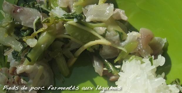 Som Phak Tin Mou  - Légumes fermentés aux pieds de porc