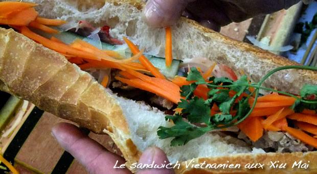 Sandwich vietnamien : carottes râpées et coriandre