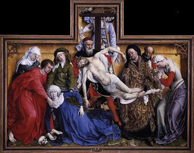 El descendimiento de Roger van der Weyden, en el Museo del Prado