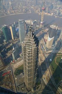 環球金融中心100階展望台からの眺望