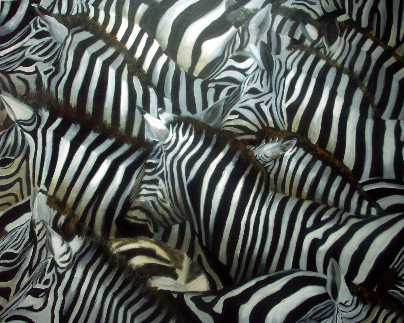 Manada cebras pinterest - Cuadros de cebras ...
