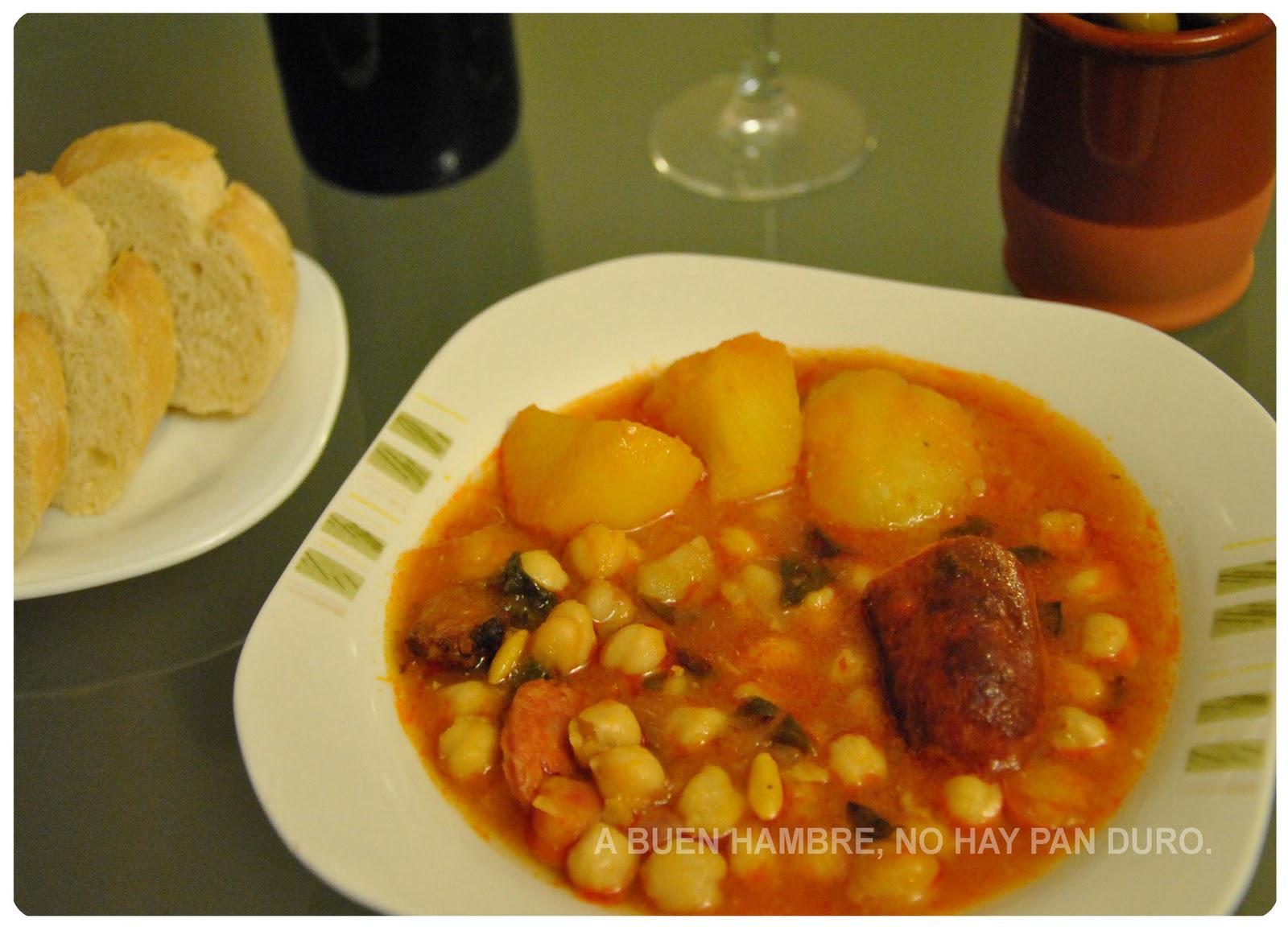 A buen hambre no hay pan duro potaje de garbanzos - Garbanzos olla express ...