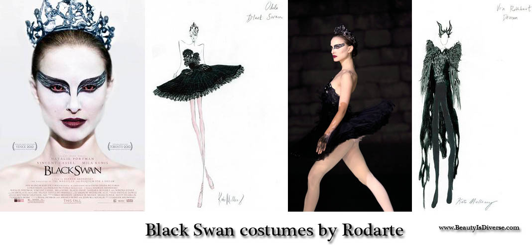 rodarte black swan gown