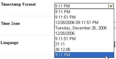 Blogger timestamp format